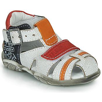 Čevlji  Dečki Sandali & Odprti čevlji GBB MELVIL Bela / Rdeča / Oranžna