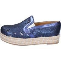 Čevlji  Ženske Espadrile Olga Rubini slip on blu tessuto paillettes BS110 Blu