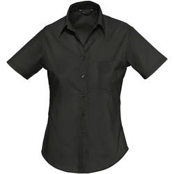 Oblačila Ženske Srajce & Bluze Sols ESCAPE POPELIN WOMEN Negro