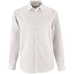 Oblačila Moški Srajce z dolgimi rokavi Sols BRODY WORKER MEN Blanco