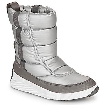Čevlji  Ženske Škornji za sneg Sorel OUT N ABOUT PUFFY MID Siva