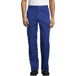 Oblačila Hlače cargo Sols ACTIVE PRO WORKS Azul