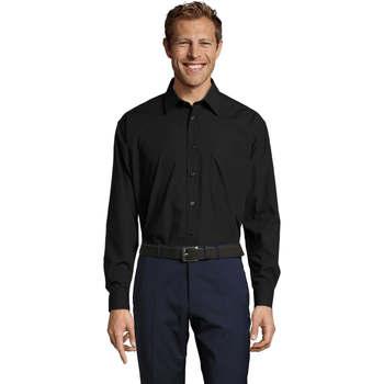 Oblačila Moški Srajce z dolgimi rokavi Sols BALTIMORE FASHION WORK Negro