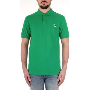 Oblačila Moški Polo majice kratki rokavi Calvin Klein Jeans J30J312323 Verde