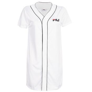 Oblačila Ženske Kratke obleke Fila WOMEN ROBIN button baseball dr Bela