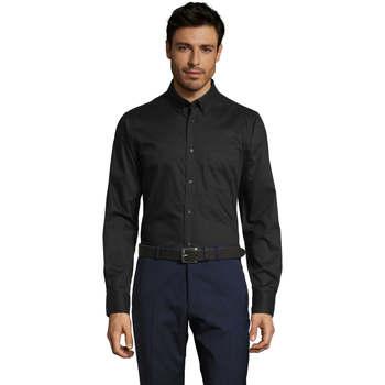 Oblačila Moški Srajce z dolgimi rokavi Sols BUSSINES MODERN MEN Negro