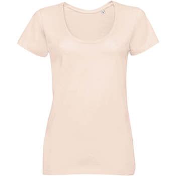 Oblačila Ženske Majice s kratkimi rokavi Sols METROPOLITAN CITY GIRL Rosa