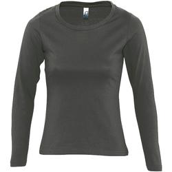 Oblačila Ženske Majice z dolgimi rokavi Sols MAJESTIC COLORS GIRL Gris
