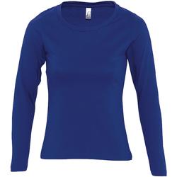 Oblačila Ženske Majice z dolgimi rokavi Sols MAJESTIC COLORS GIRL Azul