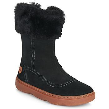Čevlji  Deklice Mestni škornji    Camper KIDDO Črna
