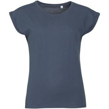 Oblačila Ženske Majice s kratkimi rokavi Sols MELBA TROPICAL GIRL Azul