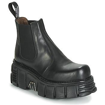 Čevlji  Ženske Polškornji New Rock M-1554-C1 Črna