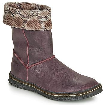 Čevlji  Deklice Mestni škornji    Ramdam CRACOVIE Bordo
