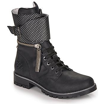 Čevlji  Deklice Mestni škornji    Ikks PEGGY Črna