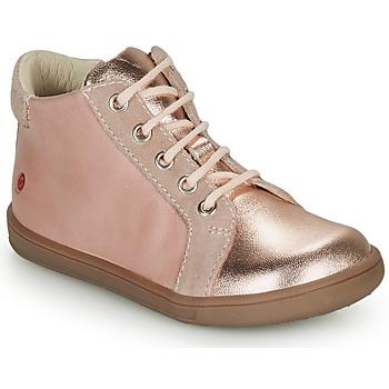 Čevlji  Deklice Visoke superge GBB FAMIA Rožnata