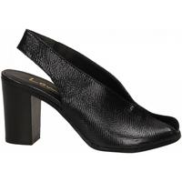 Čevlji  Ženske Sandali & Odprti čevlji Lemaré PITONE/FIESOLE nero