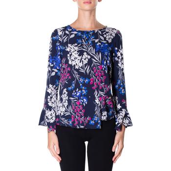 Oblačila Ženske Srajce & Bluze Luckylu BLUSA STMPA CON PENN 0405-navy