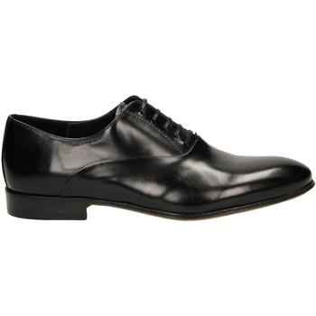 Čevlji  Moški Čevlji Derby Edward's RICCIO CUOIO ALPACA nero-nero