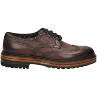 Čevlji  Moški Čevlji Derby Santoni DERBY 4F.C.RONDINE D irs56-marrone