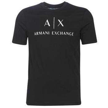 Oblačila Moški Majice s kratkimi rokavi Armani Exchange 8NZTCJ-Z8H4Z-1200 Črna