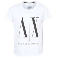 Oblačila Ženske Majice s kratkimi rokavi Armani Exchange 8NYTCX-YJG3Z-5102 Bela