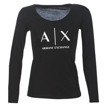 Oblačila Ženske Majice z dolgimi rokavi Armani Exchange 8NYTDG-YJ16Z-1200 Črna