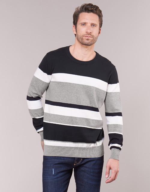 Oblačila Moški Puloverji Casual Attitude LORISS Črna / Siva