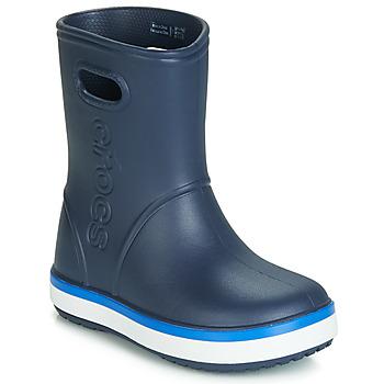Čevlji  Otroci škornji za dež  Crocs CROCBAND RAIN BOOT K Modra