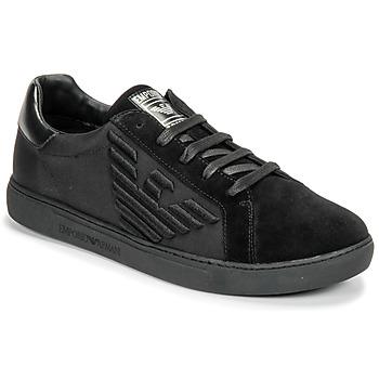 Čevlji  Moški Nizke superge Emporio Armani X4X279-XM035-A085 Črna