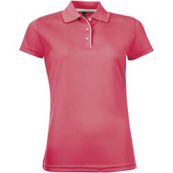 Oblačila Ženske Polo majice kratki rokavi Sols PERFORMER SPORT WOMEN Rosa