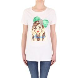 Oblačila Ženske Majice s kratkimi rokavi Vicolo RU0081 Panna