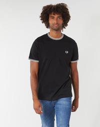 Oblačila Moški Majice s kratkimi rokavi Fred Perry TWIN TIPPED T-SHIRT Črna