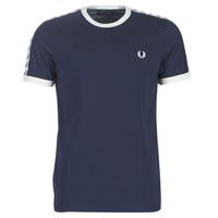 Oblačila Moški Majice s kratkimi rokavi Fred Perry TAPED RINGER T-SHIRT Modra