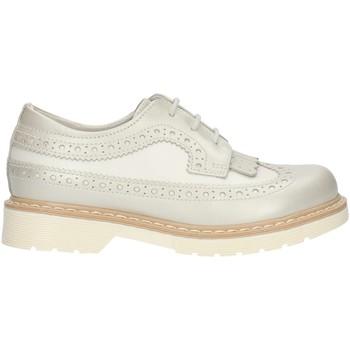 Čevlji  Deklice Čevlji Derby NeroGiardini P732080F Pearl White