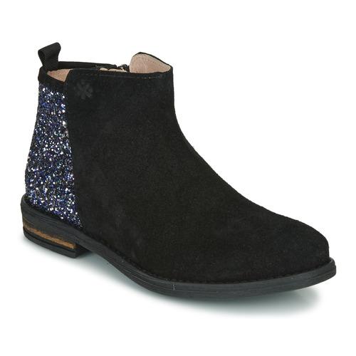 Čevlji  Deklice Polškornji Acebo's 8035-NEGRO Črna