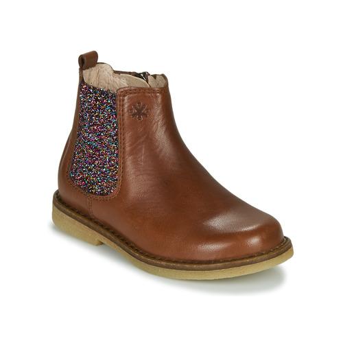 Čevlji  Deklice Polškornji Acebo's 5274-CUERO-J Cognac