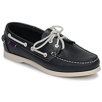 Čevlji  Ženske Mokasini & Jadralni čevlji Sebago DOCKSIDES PORTLAND W Modra
