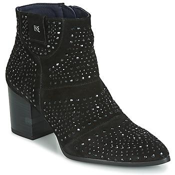 Čevlji  Ženske Gležnjarji Dorking LESLY Črna