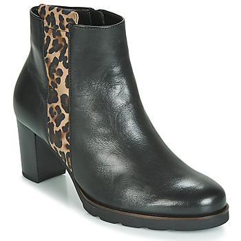 Čevlji  Ženske Gležnjarji Gabor 3554122 Črna