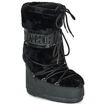 Čevlji  Ženske Škornji za sneg Moon Boot MOON BOOT CLASSIC FAUX FUR Črna