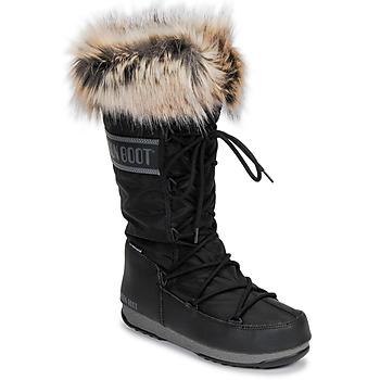 Čevlji  Ženske Škornji za sneg Moon Boot MOON BOOT MONACO WP 2 Črna