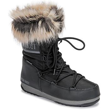 Čevlji  Ženske Škornji za sneg Moon Boot MOON BOOT MONACO LOW WP 2 Črna