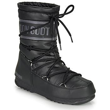 Čevlji  Ženske Škornji za sneg Moon Boot MOON BOOT MID NYLON WP Črna