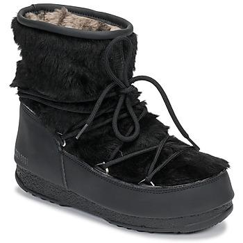 Čevlji  Ženske Škornji za sneg Moon Boot MOON BOOT MONACO LOW FUR WP Črna