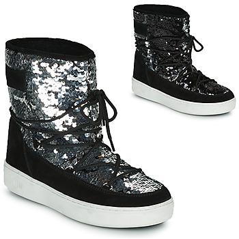 Čevlji  Ženske Škornji za sneg Moon Boot MOON BOOT PULSE MID DISCO Črna / Slamnata
