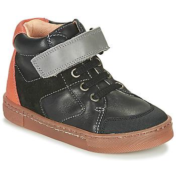 Čevlji  Dečki Visoke superge Babybotte KEN Črna / Oranžna