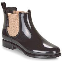 Čevlji  Ženske škornji za dež  Be Only NASHVILLE Črna / Zlata