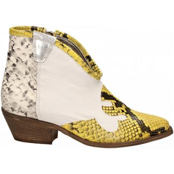 Čevlji  Ženske Gležnjarji Le Pure  bianco-roccia-giallo