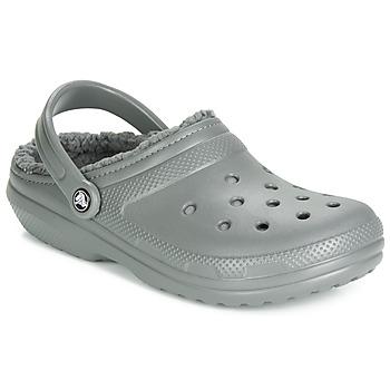 Čevlji  Cokli Crocs CLASSIC LINED CLOG Siva