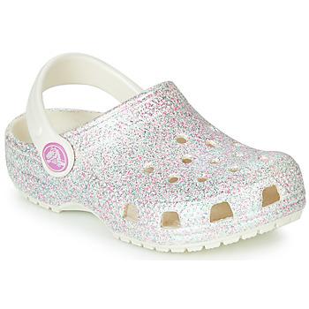 Čevlji  Otroci Cokli Crocs CLASSIC GLITTER CLOG K Bela